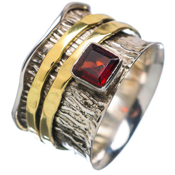 Spinner Ring - Two Tone Garnet & Bronze