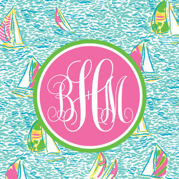 Printable Binder Insert Lilly Pulitzer You Gotta Regatta Customizable Monogram