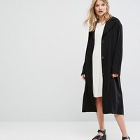 Weekday Oversize Belted Trench Coat at asos.com