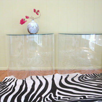 Mid Century MODERN Pair Vintage LUCITE TABLES by fabulousmess