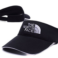 YWBI The North Face Logo Adjustable Visor Cap Embroidery Sun Hat Sports Visors