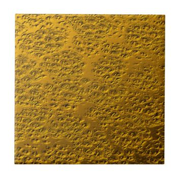Damaged gold tile
