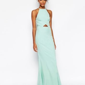 Jarlo Tall Elenora Cut Out Halter Neck Maxi Dress