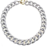 ROMWE | Silver Wide Curb Chain Necklace, The Latest Street Fashion
