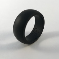 Men's Black Silicone Wedding Ring