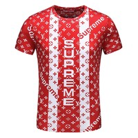 Men & Boys Supreme x Lv T-Shirt Top Tee