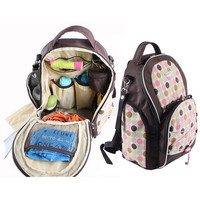Multifunctional Baby Diaper Backpack Mother Maternity Organizer Baby Nappy Changing Dot Bag Stroller Bag Baby Care B539