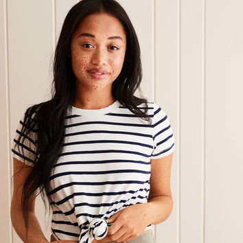 Aerie Real Soft® Crew Tee, White