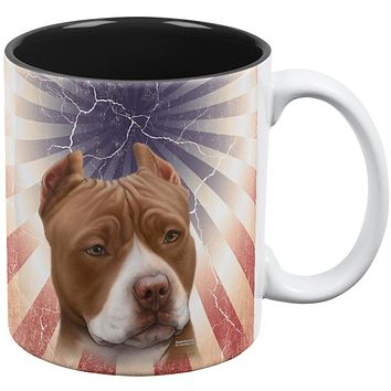 Pit Bull Terrier Live Forever All Over Coffee Mug