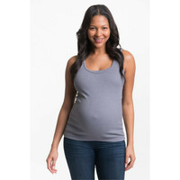 Bun Maternity & Nursing Tank {Grey}
