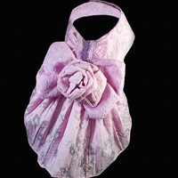 Lilac Sparkle Designer Dog Harness Dress, Limited Edition