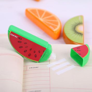 3PCS Cute Fruit Correction Tape Plastic Material Correction Tape Kawaii Stationery Office School Supplies
