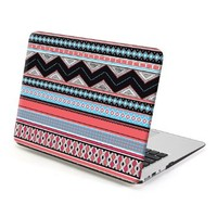MacBook Air 13 Case, GMYLE Hard Case Print Frosted for MacBook Air 13 inch (Model: A1369 and A1466) - Squama Grey Aztec pattern Rubber Coated Hard Shell Case Cover