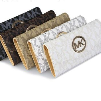 MK 2017 Pure elegant leather printing wallet purse bag [54418931724]