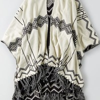 AEO 's Pendleton Blanket Shawl (White)