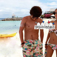Cash on delivery-friendly couple swimsuit balenciaga swimsuit ladies swimwear mens swimwear tankini surf pants couple swimsuit both of our Valentine matching pair! balenciaga overseas travel and honeymoon travel / Beach / Pool / Spa