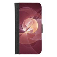 Movement Abstract Modern Wine Red Pink Fractal Art iPhone 8/7 Wallet Case