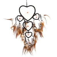 Indian Style Five-rings Hearts Dream Catcher Beautiful Legend Wall Hanging Dreamcatcher Household Car Decor Home Craft gift