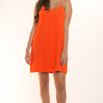 Orange Crush Mini Shift Dress