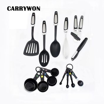 CARRYWON 14pcs Heat Resistant Silicone Cookware Set Nonstick Cooking Tools Kitchen & Baking Tool Kit Utensils Spoon Accessories