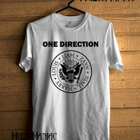 Hot One Direction Ramones Shirt 1 Direction T-shirt Black And White Printed Unisex Size - NK7
