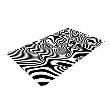 "Danny Ivan ""Trippy"" Black White Woven Area Rug"