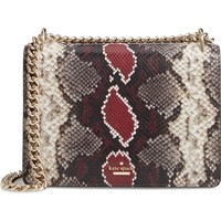 kate spade new york reese park - marci snake embossed leather shoulder bag | Nordstrom