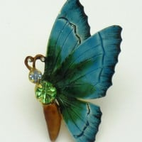 Vibrant ORIGINAL BY ROBERT Butterfly Figural Brooch