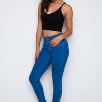 Happy With You Skinny Jeans - Dark Wash