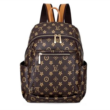 2018 New style backpack women's versatile Stylish large-volume printed sling bag crossbody bag casual travel bag STUDENT'S bag w