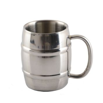 Hot Selling 320ML 450ML Double Stainless Steel Cup Mug Outdoor Camping Portable Tea Coffee Beer Cup With Handle