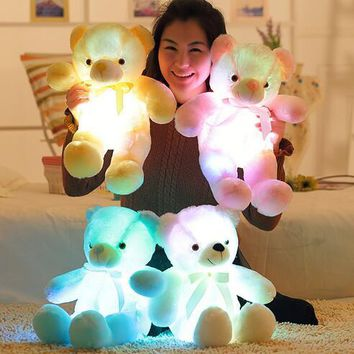 Light Up LED Teddy Bear Stuffed Animals Plush Toy