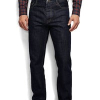 Men's Straight Fit Square Rigger Selvedge Jeans from Lands' End