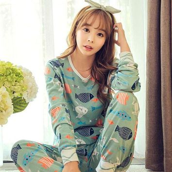 ONETOW New hot 2016 Spring Autumn Womens Pajama Sets O-Neck Long Sleeve Women Sleepwear Pajamas girls nightgown for woman free shipping