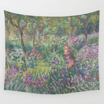 Monet's garden at Giverny Wall Tapestry by anipani