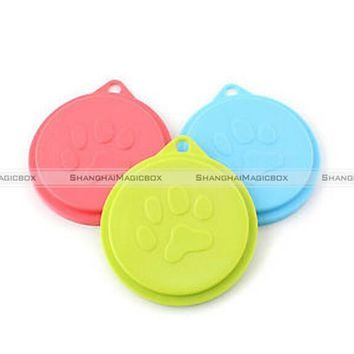 ShanghaiMagicBox 3x Pet Food Can Cover Lid Dog Cat Pet Tin Plastic Reusable Storage Cap Top 88mm 40515370