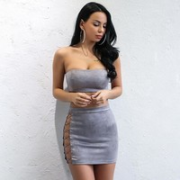 Suede Skies Two Piece Set