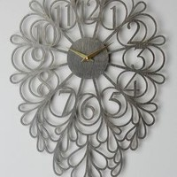Sarah Mimo Gatehouse Wall Clock, Vines in Oxford Size: One Size Clocks