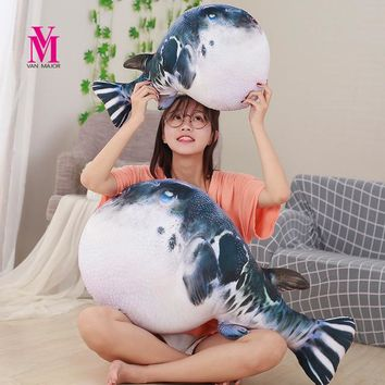 1pc 20/40cm Cute  Puffer Fish Plush Toy Stuffed Plush Animal Little Fish Dolls Kids Toys for Children Fish Pillow Party Gifts