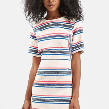Women's Topshop Stripe Jacquard A-Line Dress,