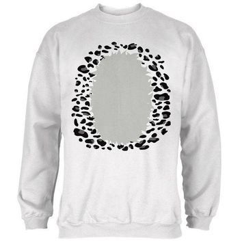 CREYCY8 Halloween Snow Leopard Costume Mens Sweatshirt