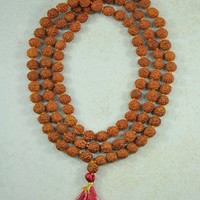 Rudraksha Seeds Mala 108 Beads Prayer Necklace