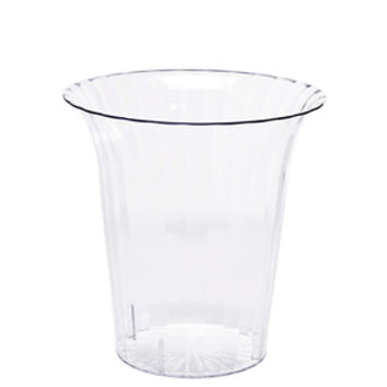 Clear Plastic Flared Cylindrical Candy Container - Small
