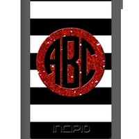 Personalize your Incipio Waterproof Case for iPhone 5 - Stripes Glitter Monogram