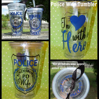 Police Wife tumbler - 16oz personalized acrylic