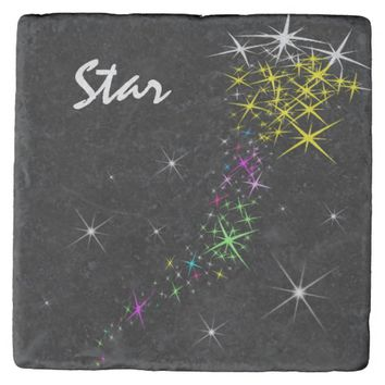 Christmas Star Stone Coaster