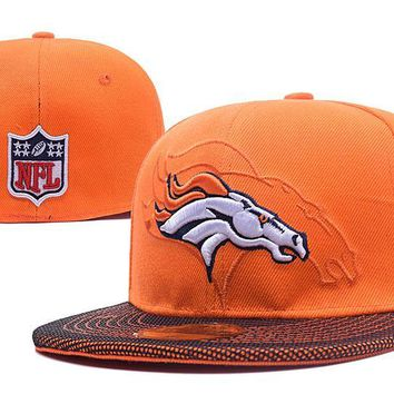 auguau Denver Broncos New Era 59FIFTY NFL Football Cap Orange