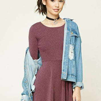 Heathered Knit Skater Dress