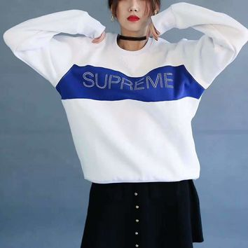Supreme Fashion Long Sleeve Pullover Sweater Hoodies G-A-HRWM