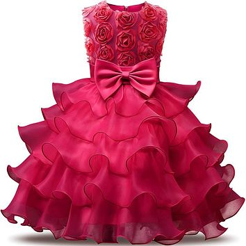 Baby Girl Lush Tutu Dress 1 Year Birthday Infant Party Dress For 9 12 18 24 Months Toddler Kids Baby Wear Baby Baptism Clothes